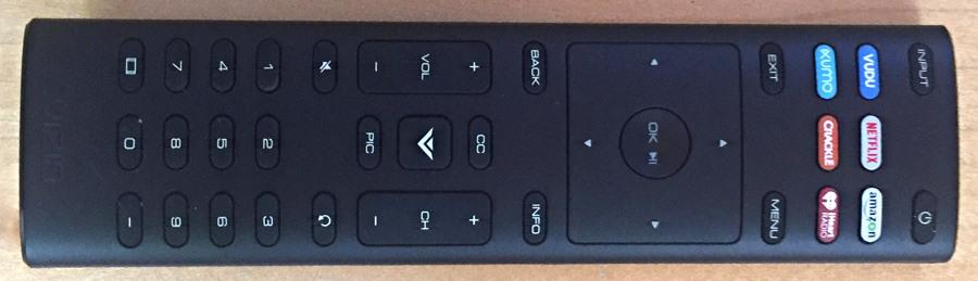 new vizio 4k hdtv tv remote