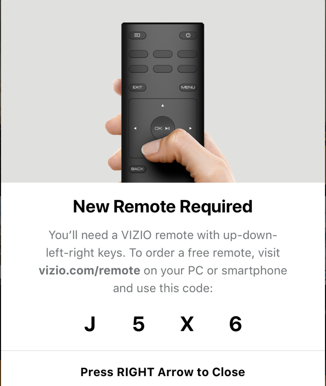 Why is my Vizio TV telling me I need a new remote? - Ask Dave Taylor