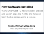 vizio automatic software update install smartcast tv remote control