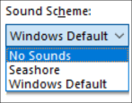 disable turn off alert system sounds beeps windows win10