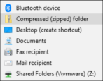 how to create make zip archive file folder windows win10