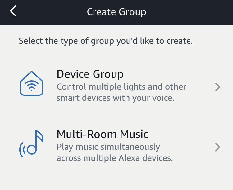 device group or multi-room music amazon echo alexa