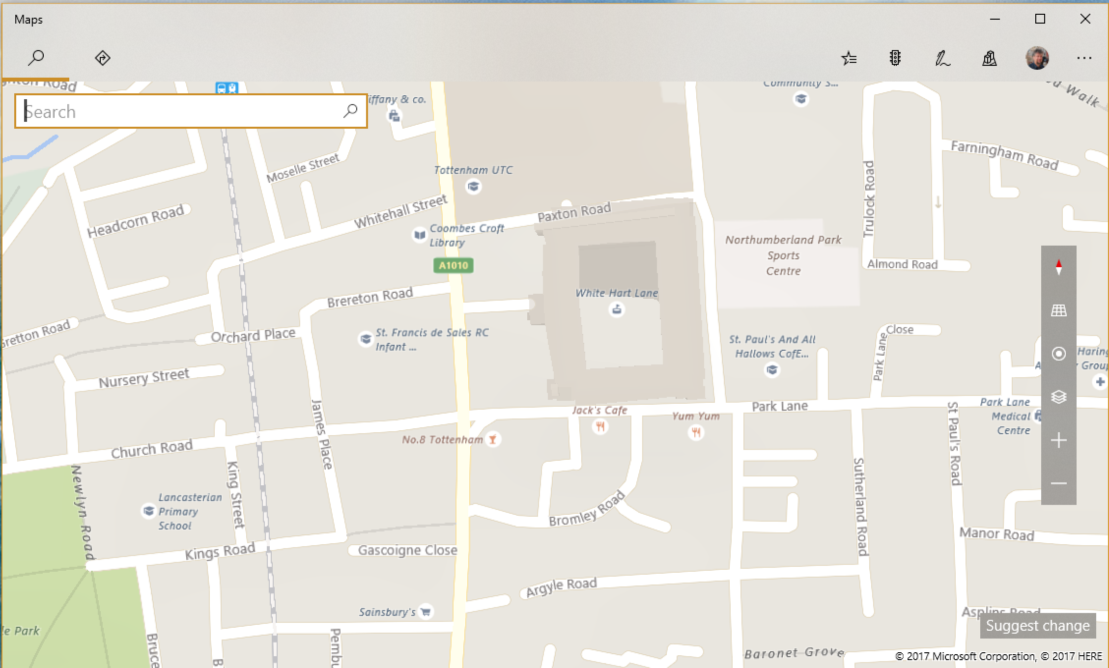 microsoft maps bing white hart lane london