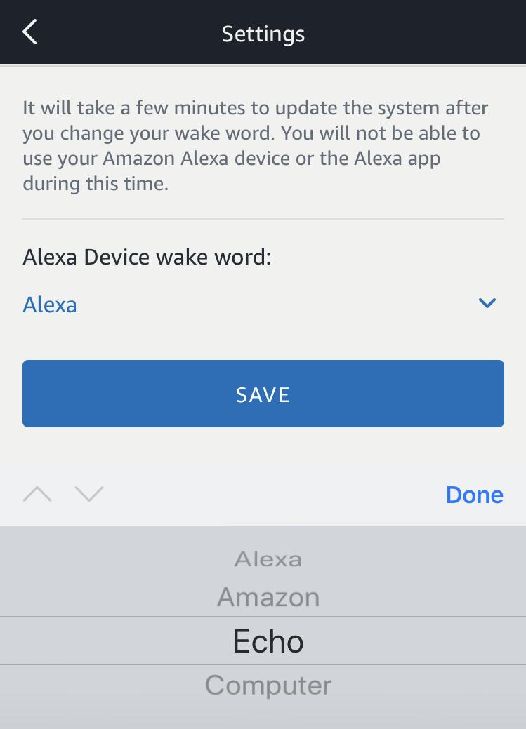 change amazon echo dot tap wake word