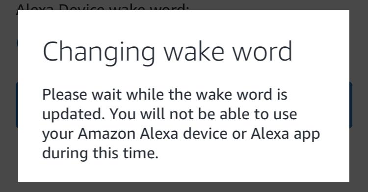 amazon echo alexa - changing wake word