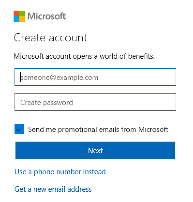 create live.com account microsoft account
