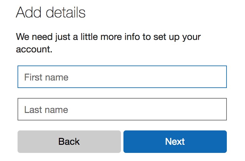 first name, last name, outlook.com address account