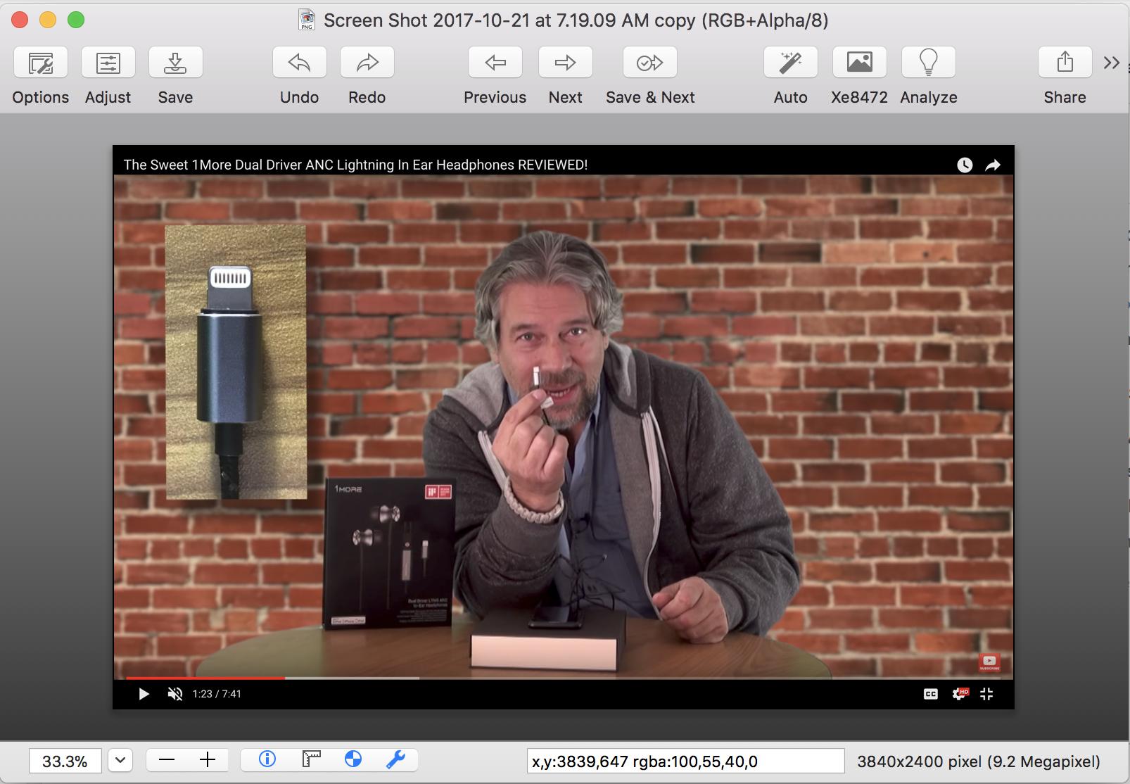 screen capture opened in graphicconverter