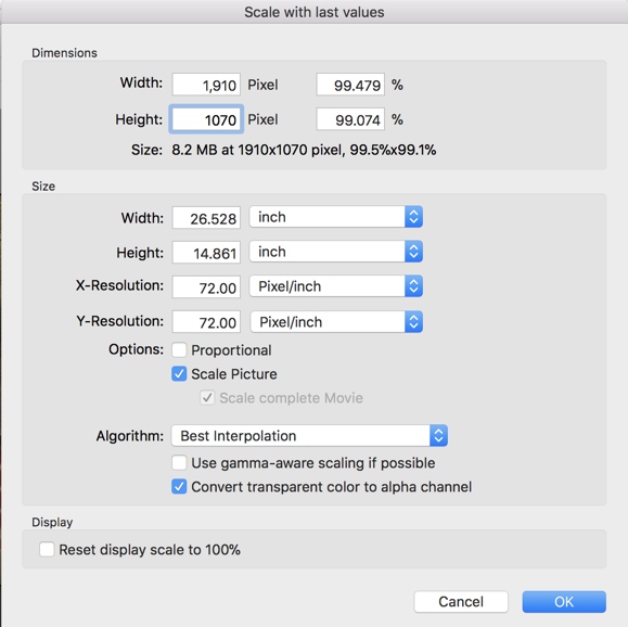 image size dimensions resize graphicconverter