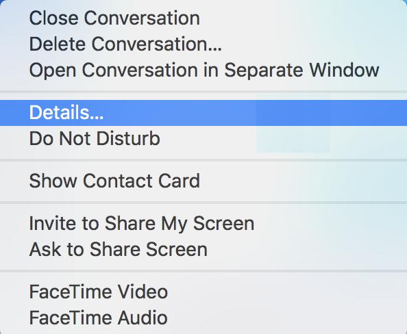mac messages context menu