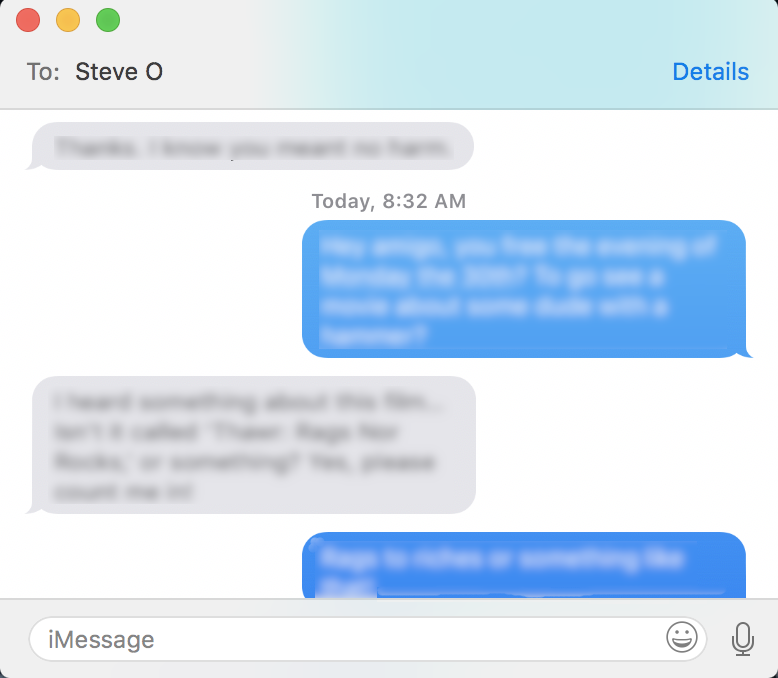 imessage messages mac os macos separate window