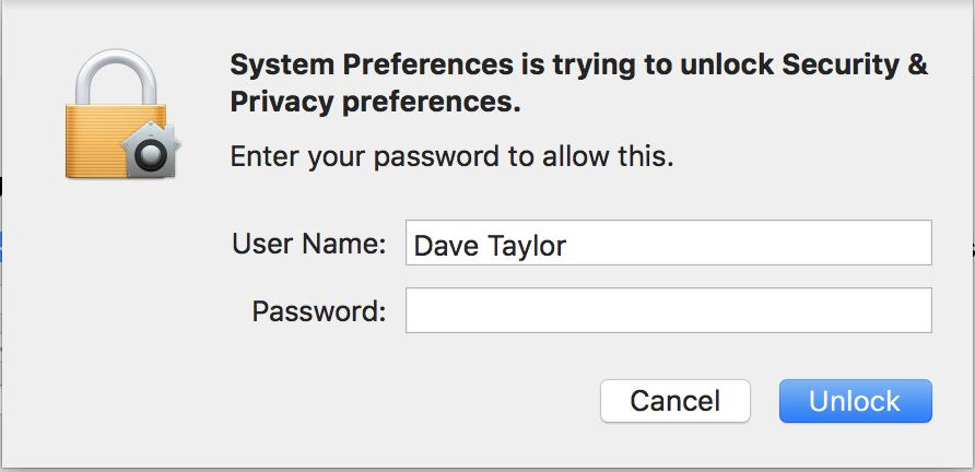 enter macos x admin administrative password