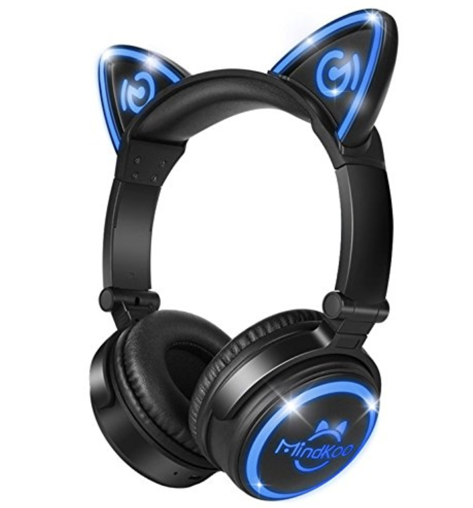 Review: The Ridiculously Cute Mindkoo Cat Ears Headphones ...