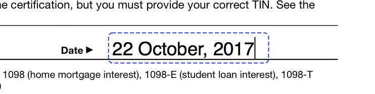 pdf element text comment - date