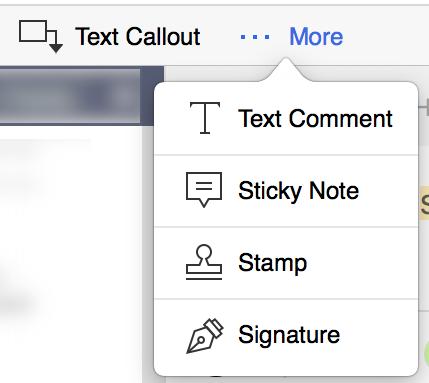more menu - signature