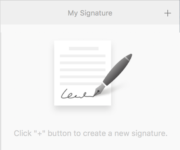 add a digital signature, pdf element mac