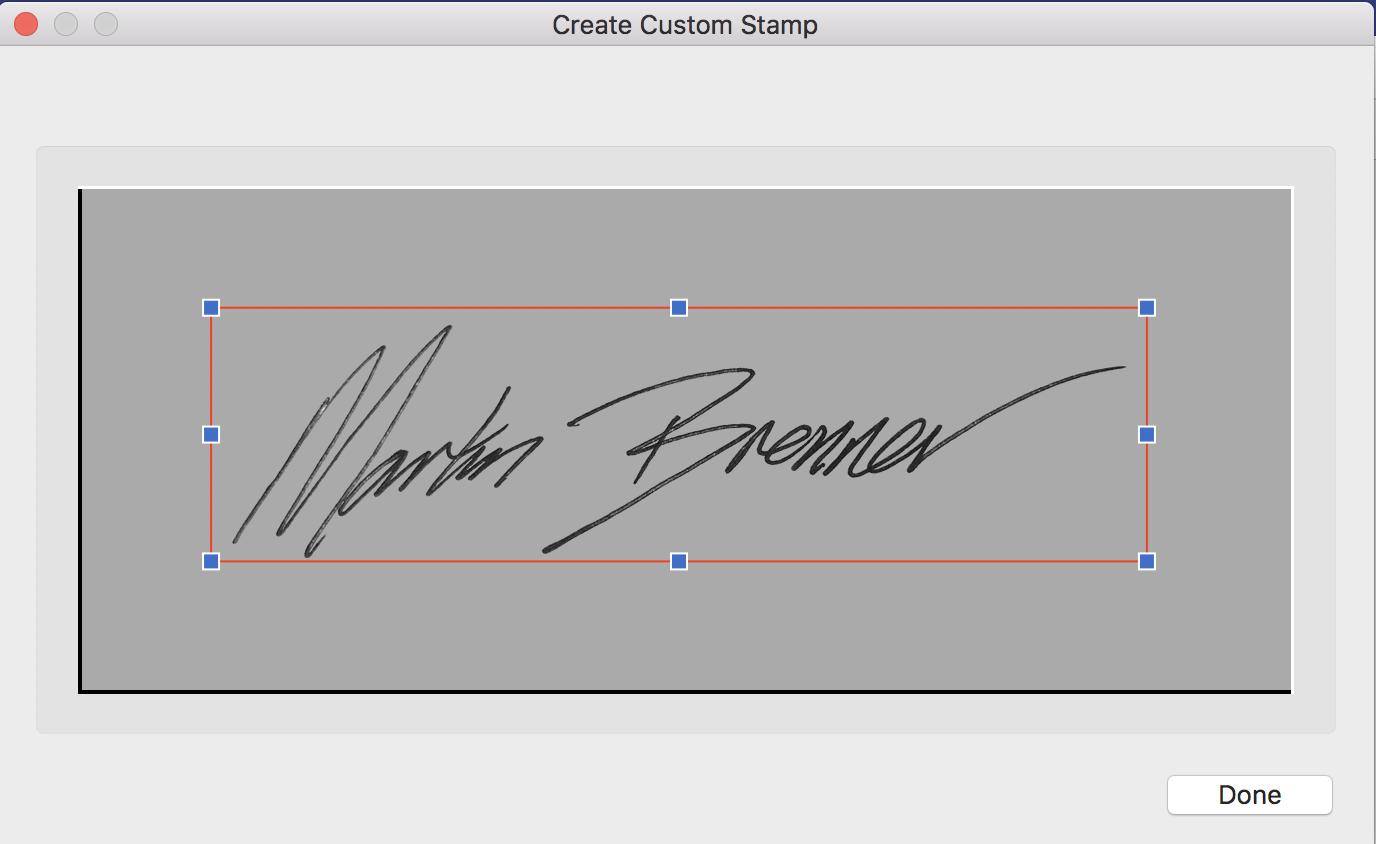 adding signature sample, pdf element