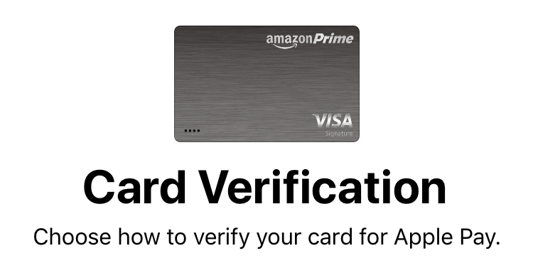choose how to verify credit card