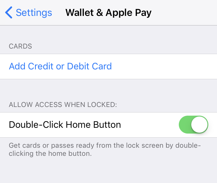 set up apple pay add credit card