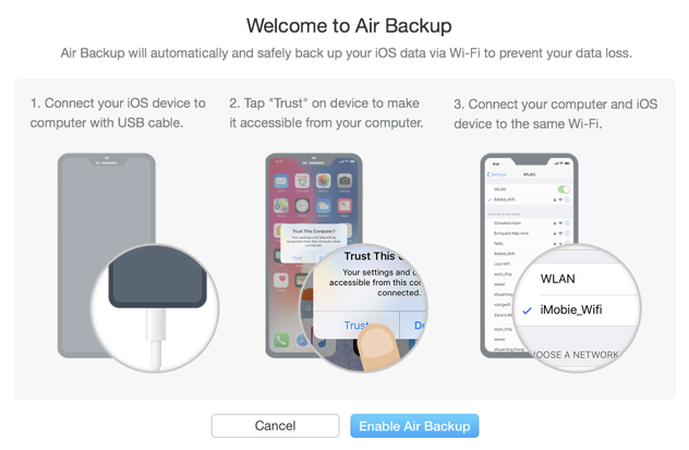 anytrans wondershare air backup ios iphone