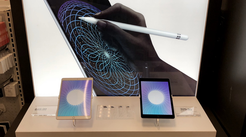 apple ipad sales display, retail