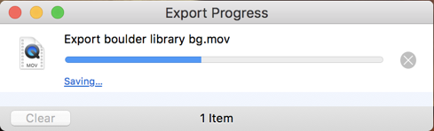 quicktime player export progress