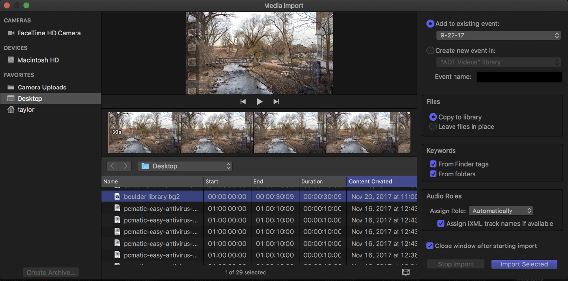 mov file ready to import, fcpx final cut pro x