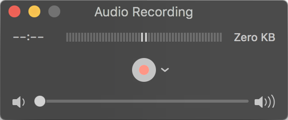 start audiio recording quicktime player mac macos