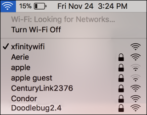 mac choose wrong wifi network xfinitywifi