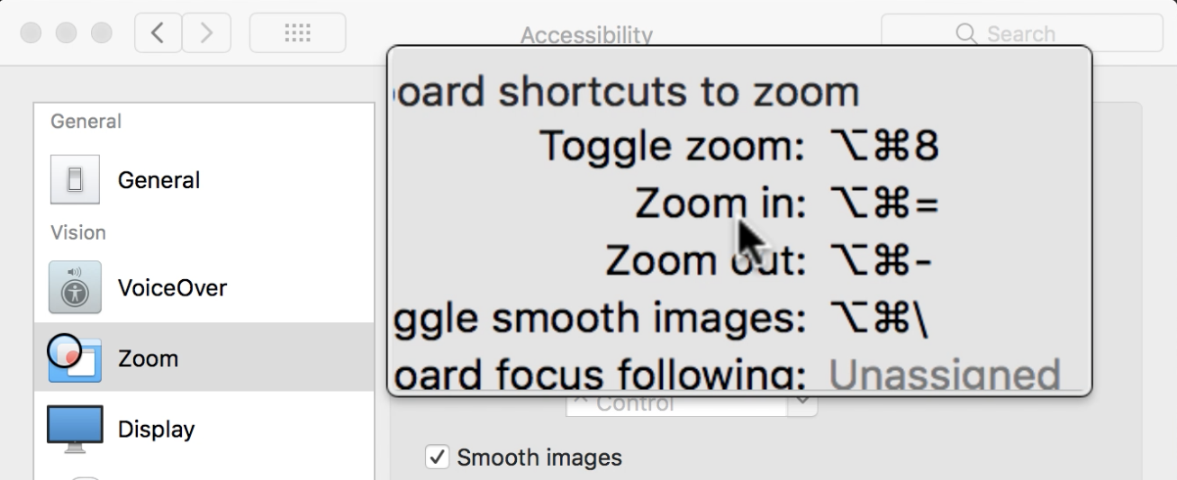 mac zoom magnify window