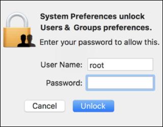how to change root password on mac