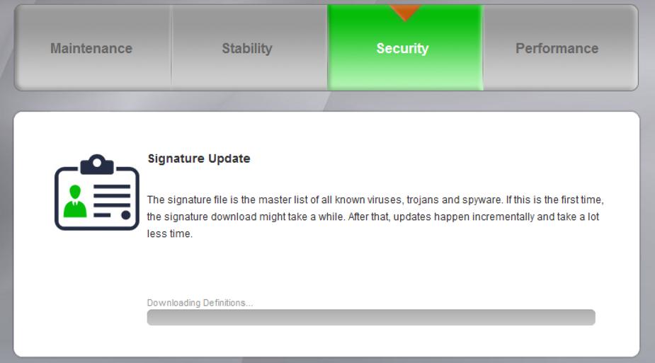 pc matic security scan - update virus signatures