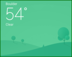 android weather widget app - set location city forecast