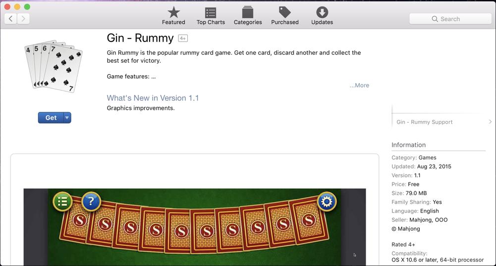 mac gin rummy game