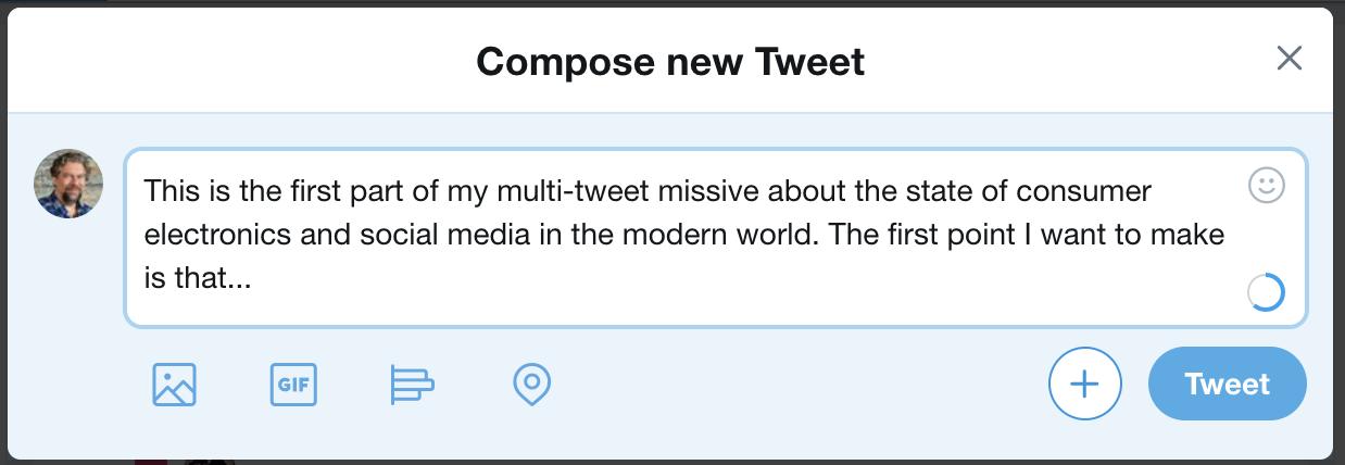 a single tweet twitter message