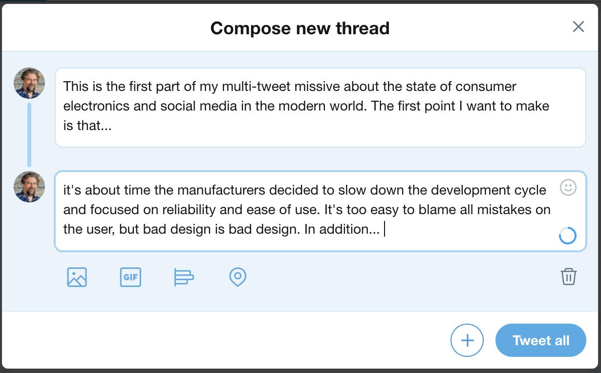 composing a tweetstorm twitter