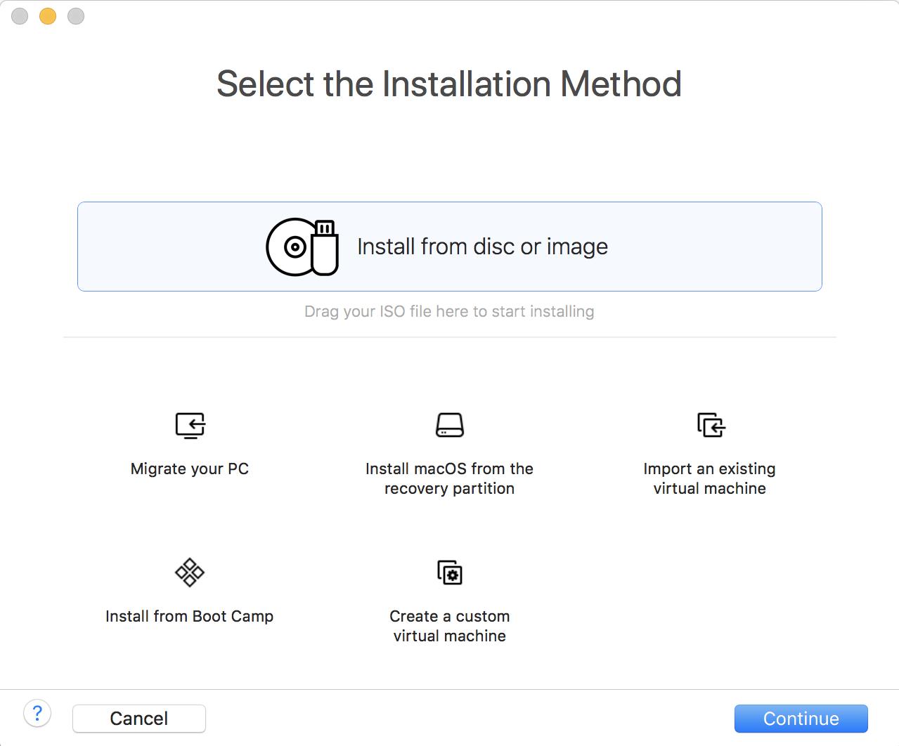 install fedora linux vmware fusion