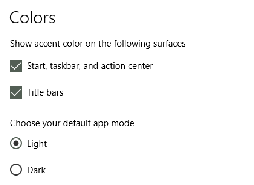 win10 window color options