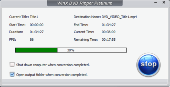 winx dvd ripper platinum progress bar