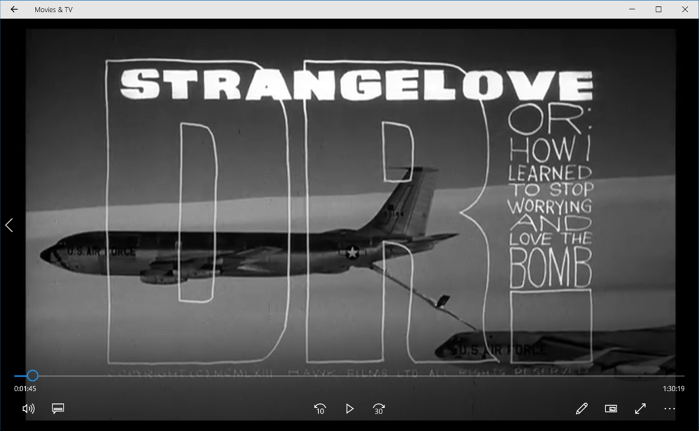 dr strangelove on windows win10