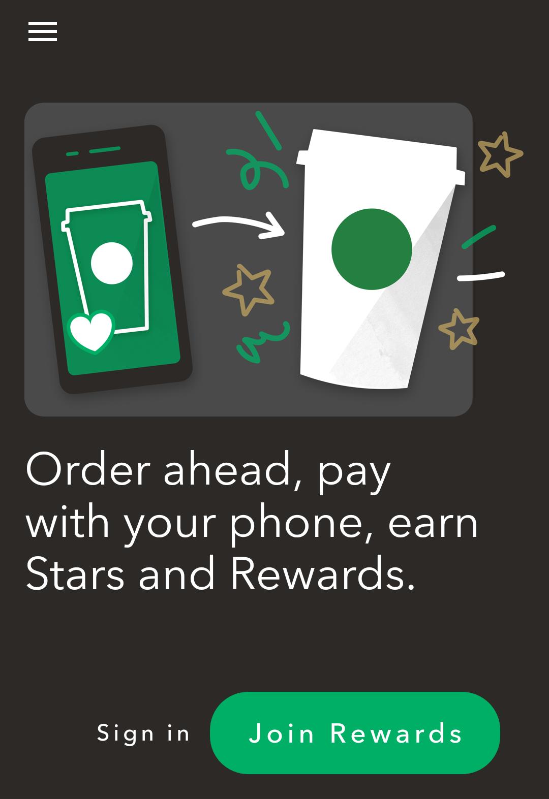 starbucks app - android
