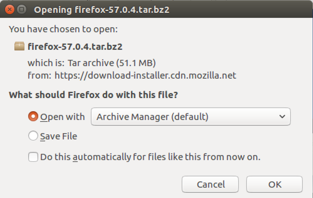 downloading latest firefox linux