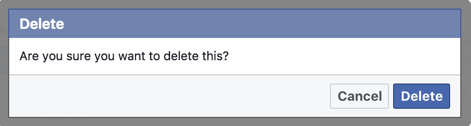 sure delete facebook post update page