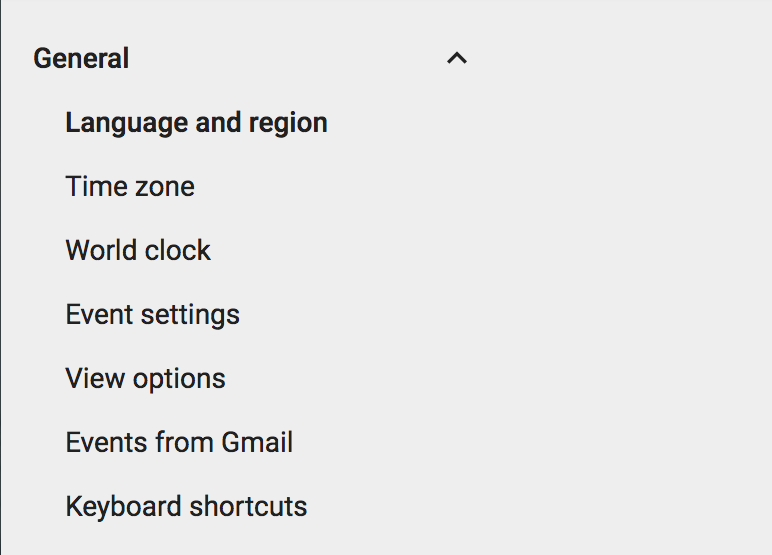 google calendar gcal settings configuration preferences