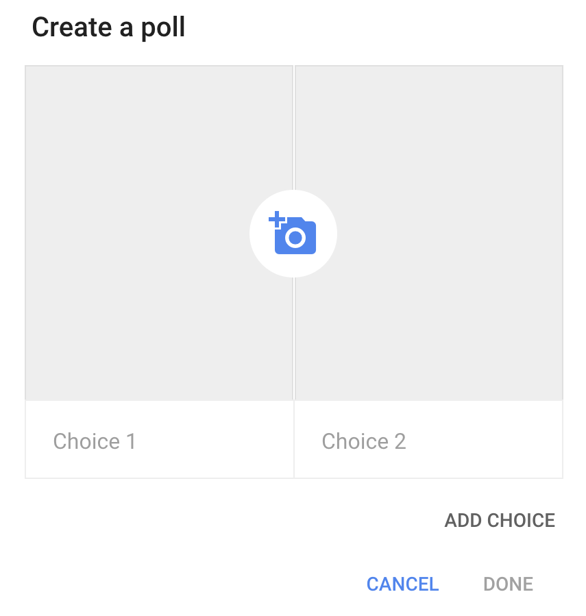 create google plus poll
