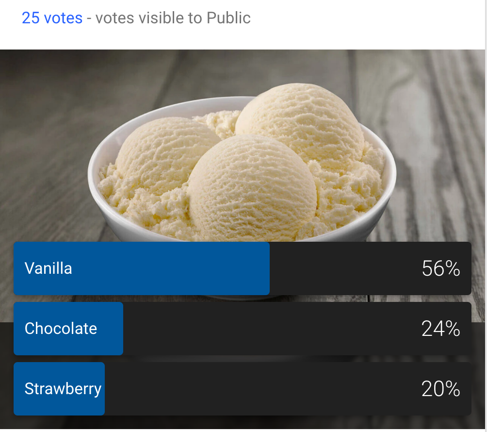 google plus ice cream flavor survey
