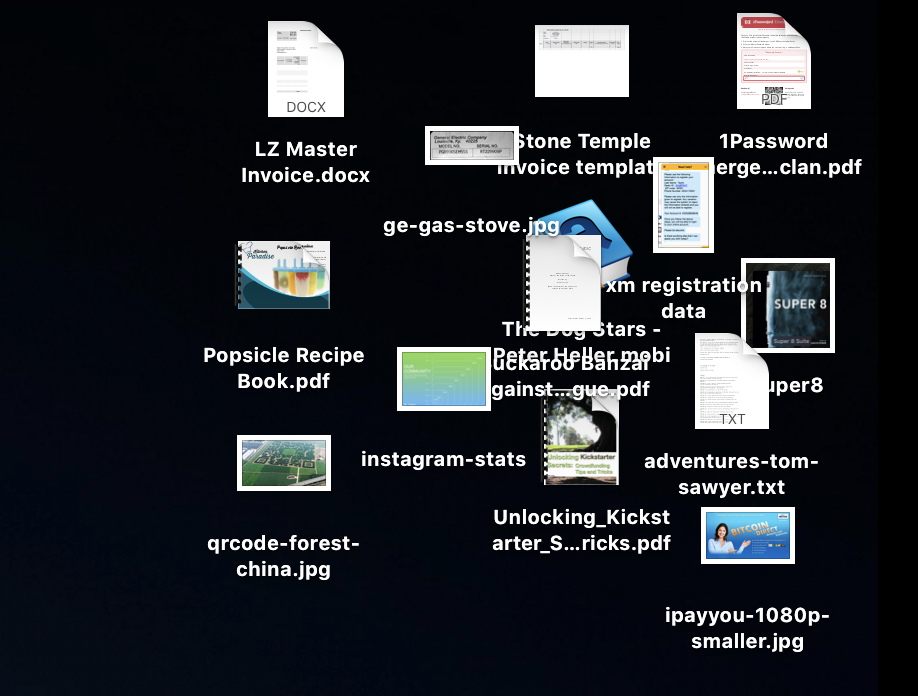 macos x mac desktop jumble mess icons