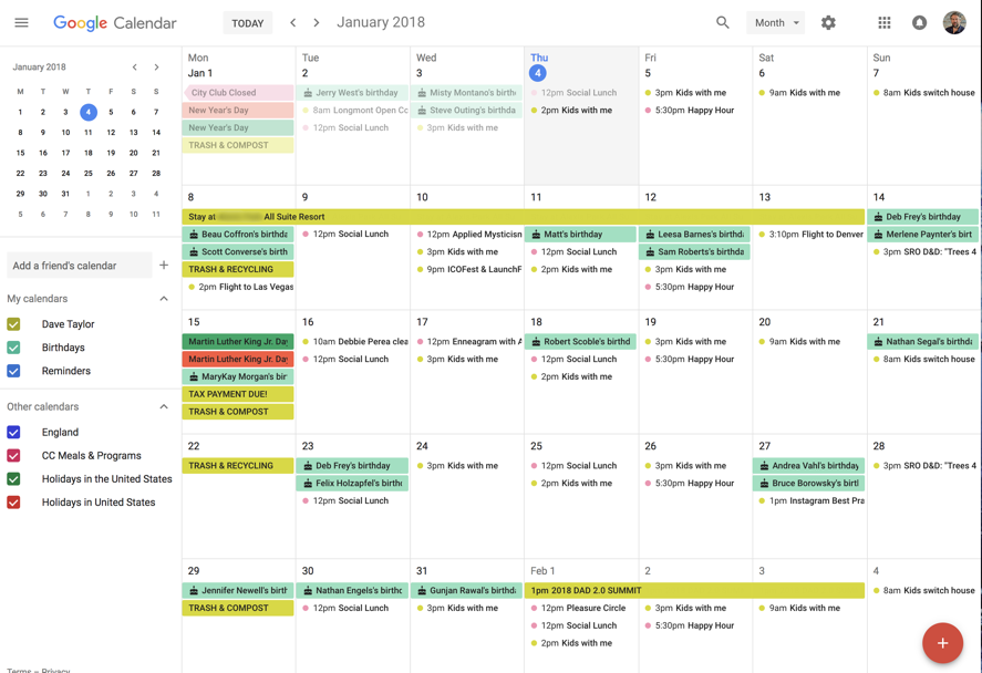 new google calendar month view