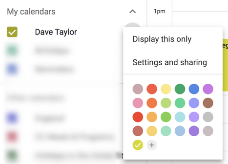specify color calendar new google calendar