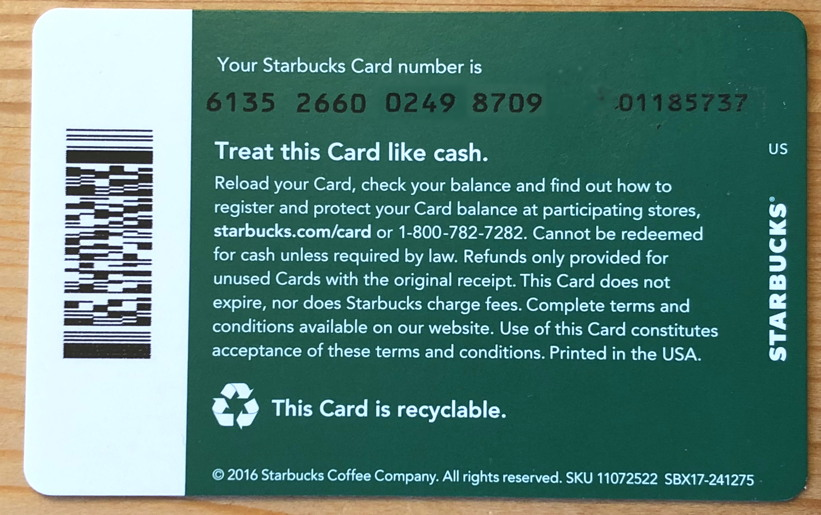 Transfer Starbucks Gift Card Balance Onto My Main Card